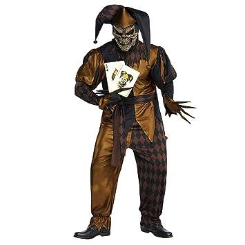 L/XL PLUS SIZE Mens Jokers Wild Costume Court Jester Medieval Fancy Dress Evil Clown  sc 1 st  Amazon UK & L/XL PLUS SIZE Mens Jokers Wild Costume Court Jester Medieval Fancy ...