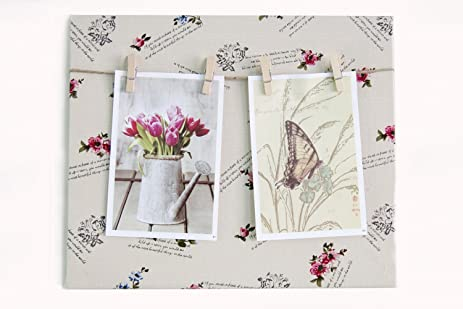Amazon.com - Warmerly Creative Fabric Cloth Art Photo Clip Board ...