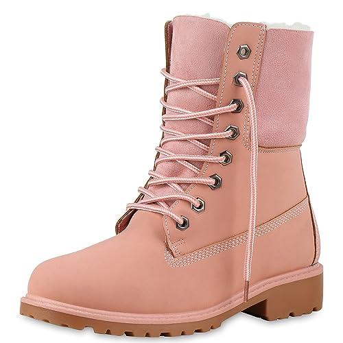 908c0e914a42fe SCARPE VITA Warm Gefütterte Damen Boots Outdoor Stiefel Stiefeletten 165440  Rosa 36