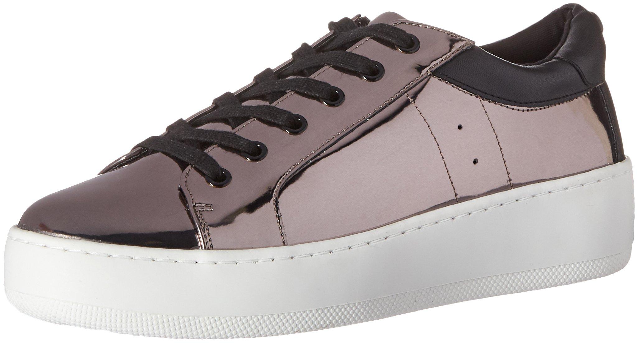 Steve Madden Women's Bertie-M Fashion Sneaker, Pewter, 6 M US