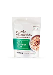 purely elizabeth Gluten-Free, Organic, Superfood Oatmeal, Apple Cinnamon, 10 Ounce