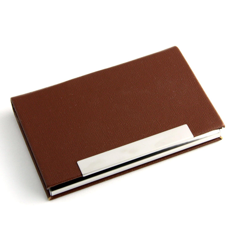 ビジネス名カードホルダークレジットカードIDケース/ホルダーカードケース。 2.6Wx3.8L  ブラウン B0150Y5UJQ