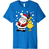 Santa and Reindeer Festive Ugly Christmas Sweater T-Shirt