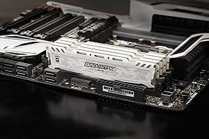 Ballistix Sport LT 64GB Kit (16GBx4) DDR4 3000 MT/s (PC4-24000) CL15 DR x8 DIMM 288-Pin Memory - BLS4K16G4D30AESC (White) (Color: White, Tamaño: 64GB Kit (16GBx4) DR)