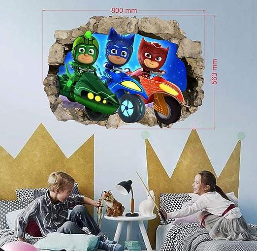 PJ Masken - Adhesivo decorativo para pared, diseño de PJ Masken