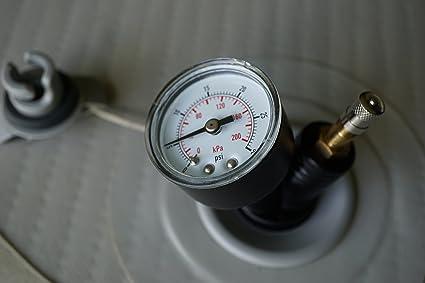 Amazon.com: Válvula de inflado con manómetro – Manómetro ...