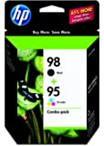 HP 98 Black & 95 Tri-color Original Ink Cartridges, 2 Cartridges (C9364WN, C9368WN)