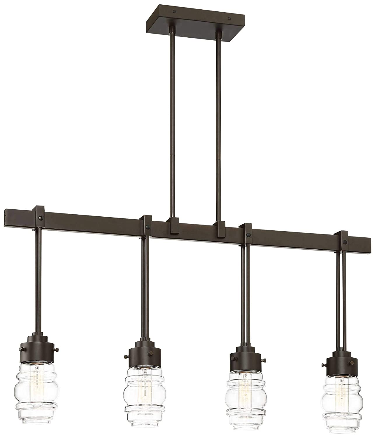 Amazon.com: Nantucket - Colgante de 4 luces de bronce ...