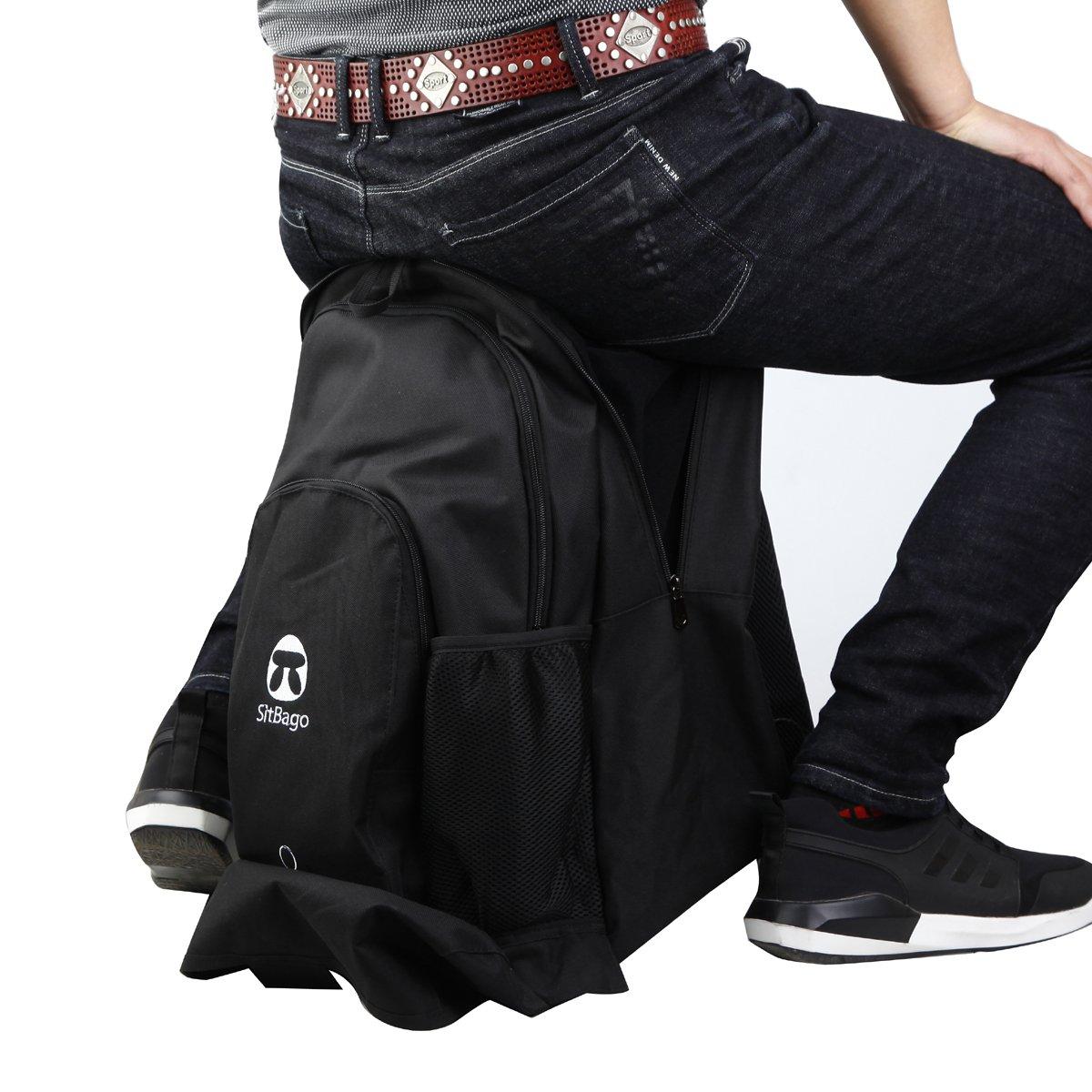 wstoo Hochleistungs kann sitzen Rucksack Multi–Funktioneller Rucksack Große Kapazität Outdoor Bergsteigen Rucksack Rucksack-stuhl, zusammenklappbar