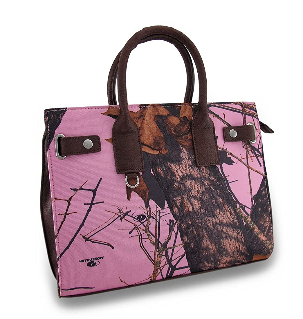 ビニール女性肩ハンドバッグMossy Oak CamoサッチェルスタイルPurse w / Removable Shoulderストラップモデル# mt1 – 507295-mp-bk  ブラウン B00OVES788