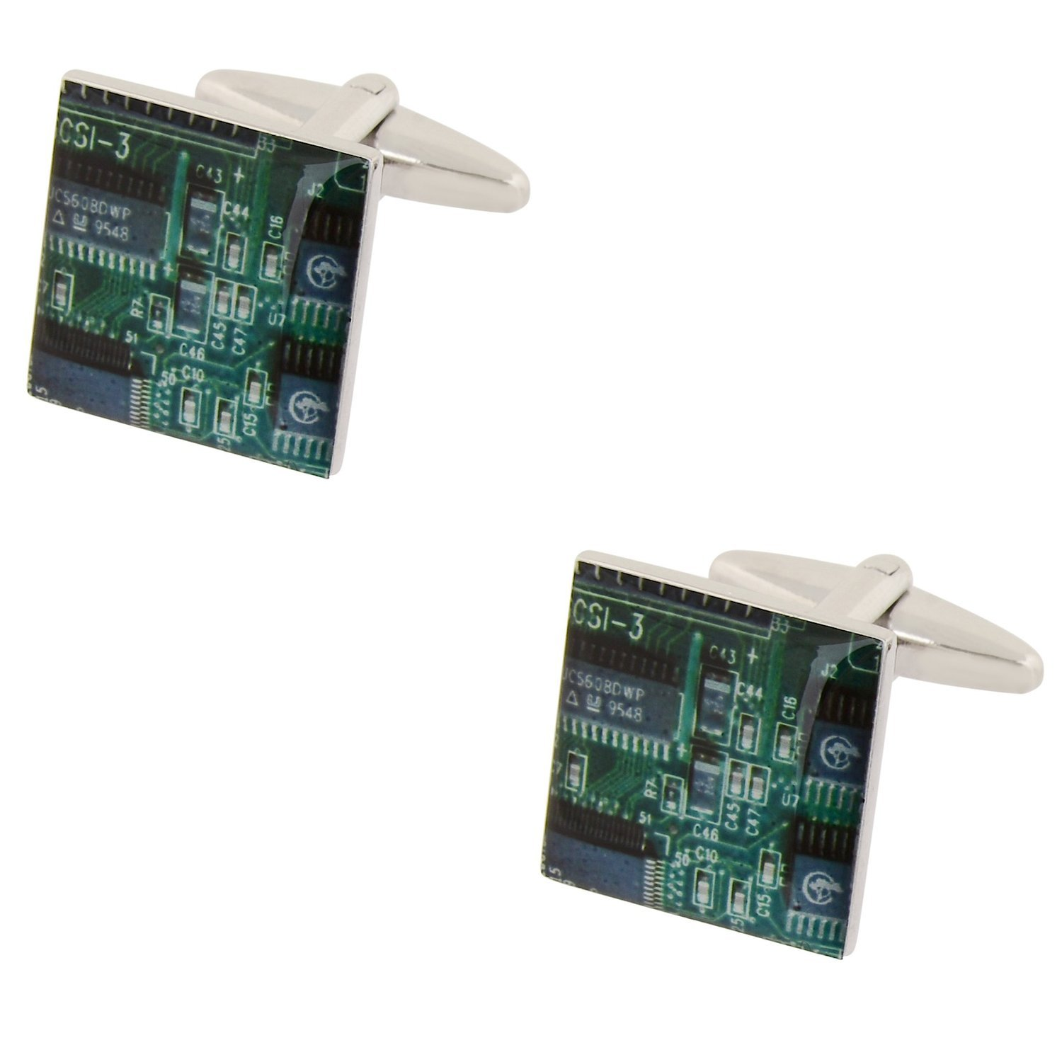 Quality Green Circuit Board Cufflinks Kitchen Home Computer With Electronics Components And