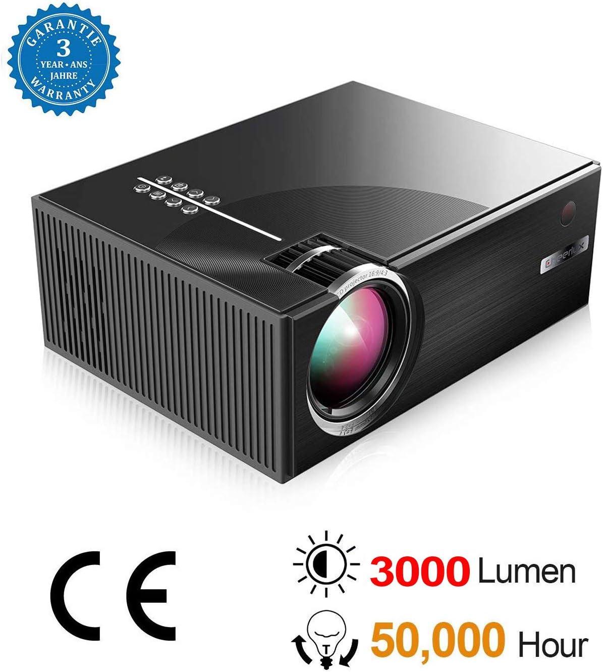 BEYI 3000 Lumen LED Proyector de Video. Proyector PortáTil LCD ...