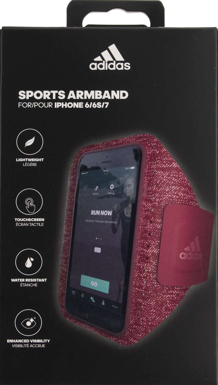 cheap for discount 1f544 80fc3 adidas SP Sport Armband for iPhone 6/6S/7 - Red: Amazon.co.uk ...