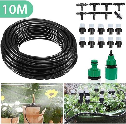 Mopalwin 10M Kit de Riego por Goteo Ajustable, Micro Kit de riego por Goteo Riego automático Rociadores automáticos Kit de riego de jardín, Control de Agua para Plantas de Jardín: Amazon.es: Jardín