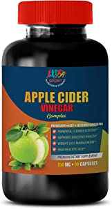 Weight Loss Appetite Supplement Women - Apple Cider Vinegar Complex - kelp Lecithin b6 Cider Vinegar - 1B (90 Capsules)