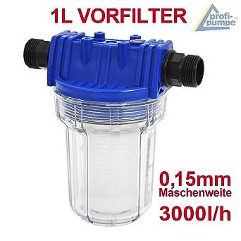 ERSATZFILTER FÜR VORFILTER KARTUSCHE WASSERFILTER 1/'/' 5000 L//h  PUMPENFILTER 2L