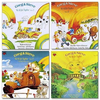 Greg & Steve: We All Live Together CD Set (Set of 4): Toys & Games