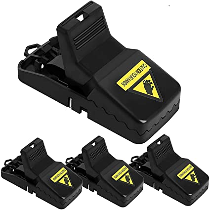 BSdream Rat Traps - Upgrade Mouse Trap Snap Power Rodent Killer(4 Pack),  Mice Trap, Sensitive Reusable and Durable(4 Pack Rat Traps)