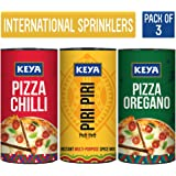 Keya International Sprinklers Combo- Italian Pizza Oregano 80G, Piri Piri 80G, Italian Pizza Chilli 70G …