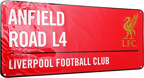 Amazon.com: Liverpool F.C. – Metal placa de calle Rojo ...