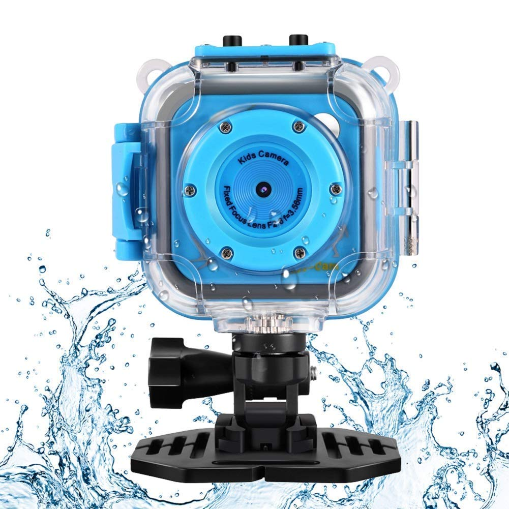 Kids Waterproof Camera with Video Recorder Includes 8GB Memory Card by HanBiaofash