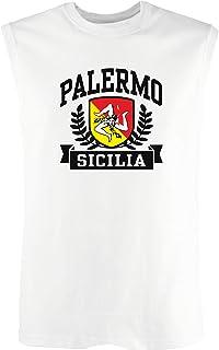 T-Shirtshock Canottiera Uomo Bianco DEC0420 Palermo Sicilia