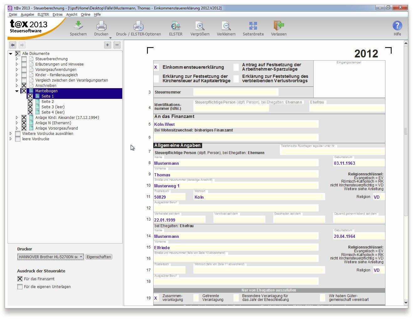 t@x 2013 (für Steuerjahr 2012): Buhl Data Service GmbH: Amazon.de: Software