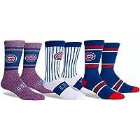 PKWY Unisex Cubs Baseball Team 3-Pack Crew Socks