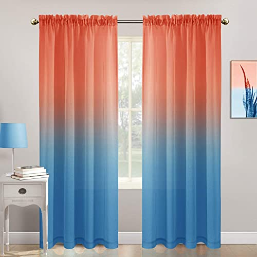 Zceconce Ombre Sheer Curtains