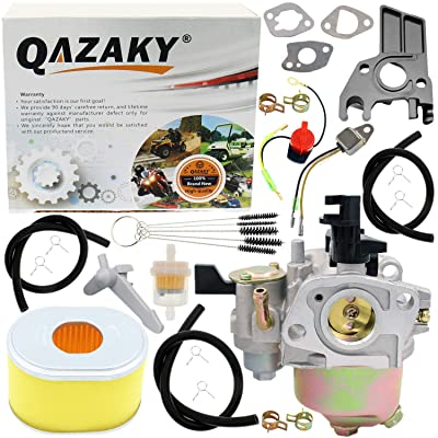 QAZAKY Carburetor Air Filter Kit Replacement for GX140 GX160 GX168 GX168F GX200 5HP 5.5HP 6.5HP Engine WP20X WP30X WMP20X EG1400 EG2200X EZ2500 WT20X HS522 HS55 HS521 Baja Warrior Heat Mb165 Mb200: Automotive