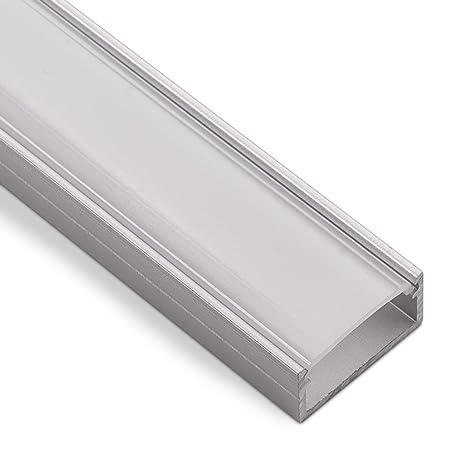 LED Aufbau-Profil-PH1 (2000 x 18 x 8,5 mm) für breite LED Stripes bis 16 mm (z.B. für Philips Hue LightStrip) Aufbauprofil mi