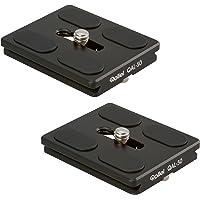 Rollei QAL-50 - professionelle Kamera-Schnellwechselplatte/Schnellverschlussplatte, Passend für alle Kameras mit 1/4 Stativgewinde und Arca Swiss kompatibel - 2 er Pack