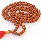 HealthAndYoga Rudraksh Mala - 8-9 mm