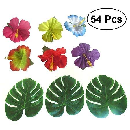 NUOLUX 54 piezas planta de Hojas tropicales 8