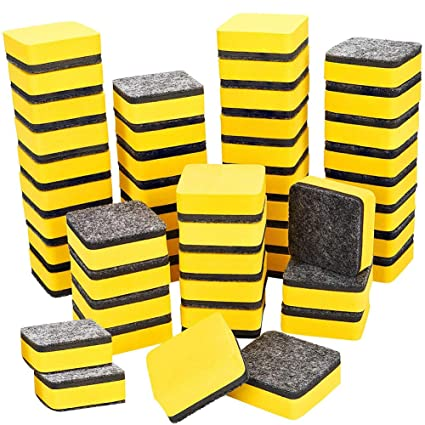 48 borradores magnéticos para pizarra blanca, borradores en seco, gomas de borrar, borradores