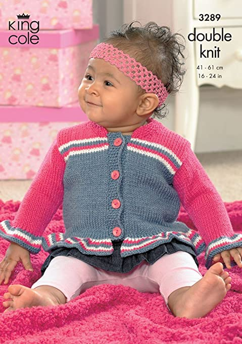 King Cole Knitting Pattern 3289 Babytoddler Dk Bolero Jacket And