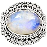 Xtremegems Moonstone 925 Sterling Silver Ring Jewelr Size 7 9005R