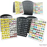 144 x EARRINGS 2 DISPLAY STANDS DIFFERENT DESIGNS WHOLESALE FROM UK