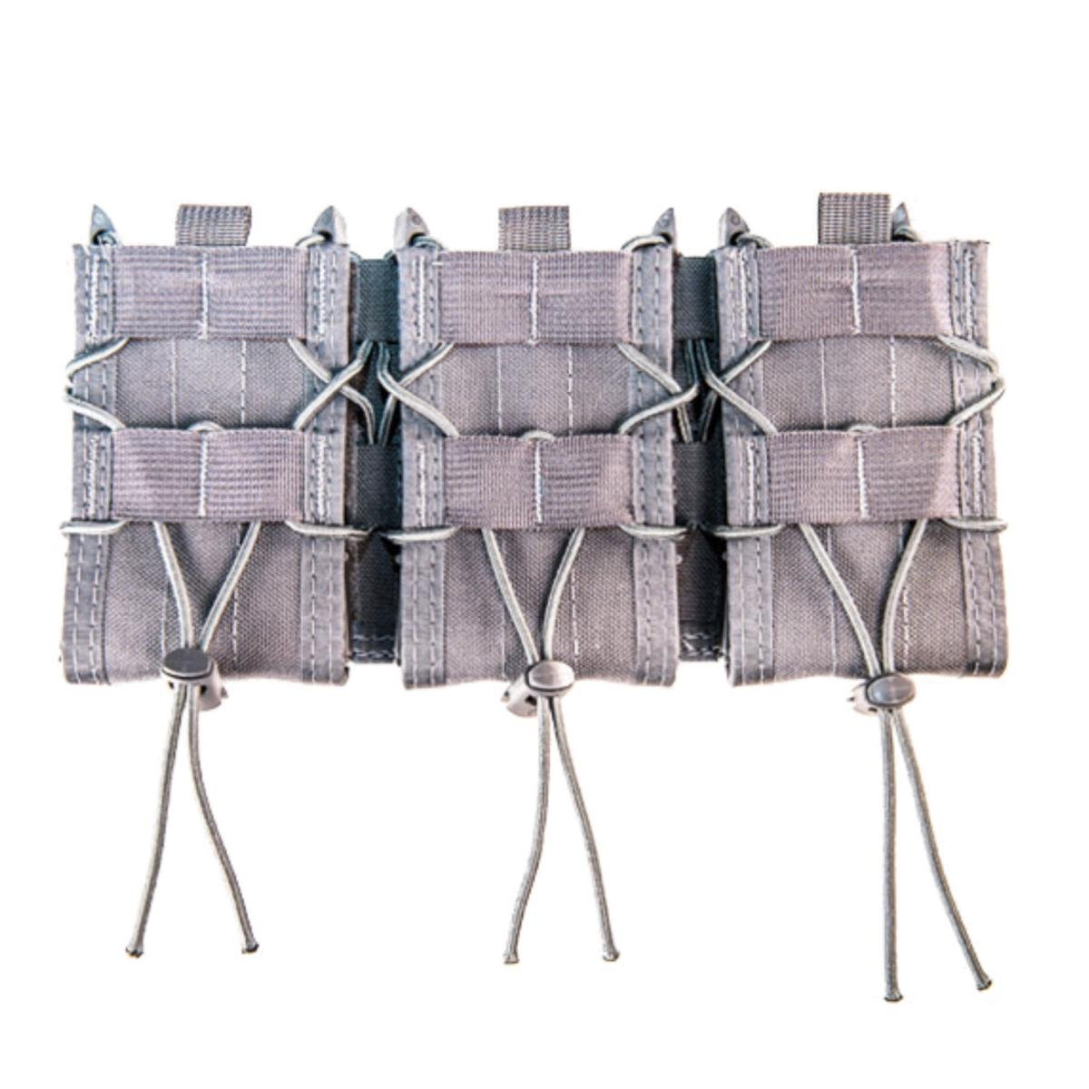 High Speed Gear MOLLE Triple Taco Shingle, Holds 3 Rifle Magazines, Wolf Gray by High Speed Gear