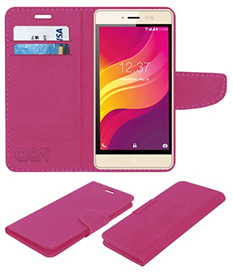 uk availability 18e9c b08aa Acm Leather Flip Wallet Case for Intex Aqua Power-M: Amazon.in ...