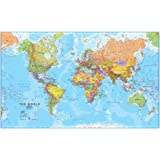 Amazon new ikea premiar world map picture with framecanvas giant world megamap laminated gumiabroncs Images
