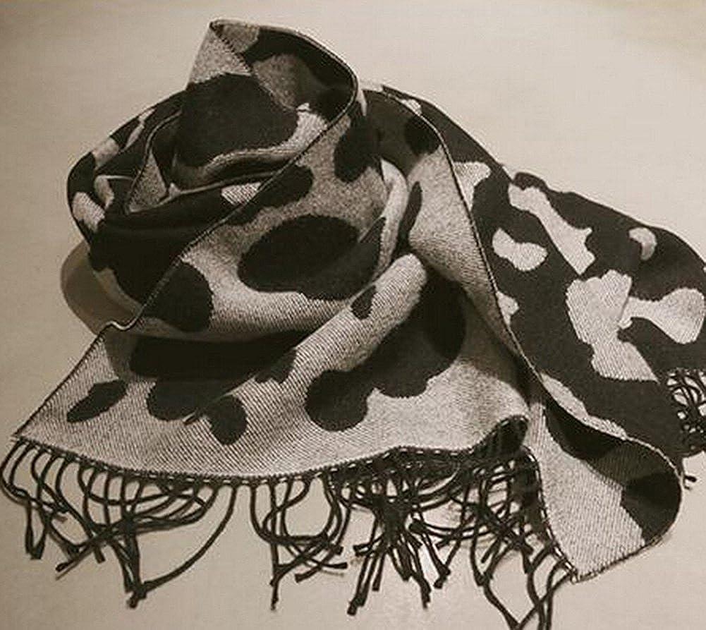 9f4fcfa30428 DaoRier Foulard léopard Noir et Blanc écharpe Femme écharpe Hiver Longue  comme Accessoire Parfait Elégant Etoles Écharpe C est Le Choix pour Les  Cadeaux ...