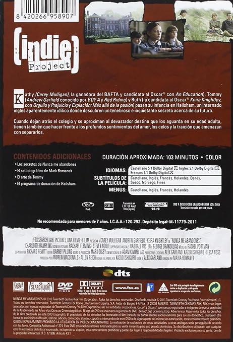 Amazoncom Nunca Me Abandones Import Movie European Format - Uas-frances