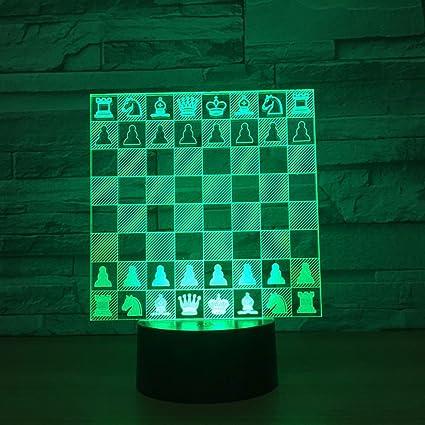 RFJJ Iluminación Nocturna en 3D Iluminación Visual 7 Cambio de Color Teclado táctil USB Luz de