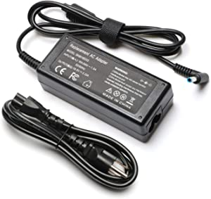 19.5V 3.33A 65W Charger for HP Chromebook 15 14 Series 15-ba113cl 15-b142DX 15-bs013dx 15-ac151dx 15-ab243C1 14-df0xxx 14-SMB 14-ca052wm 14-an013nr 14-ak045wm 14-ak040wm Laptop AC Adapter Power Cord