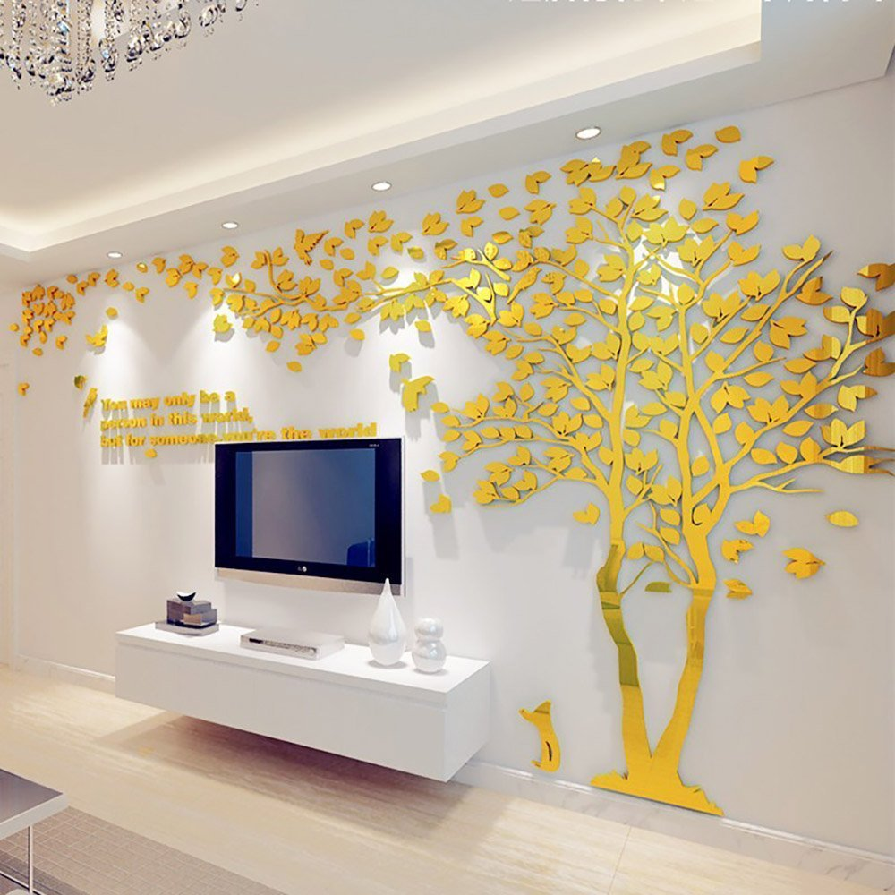 Amazon.com: DIY 3D Giant Couple Tree Wall Decals Wall Stickers ...