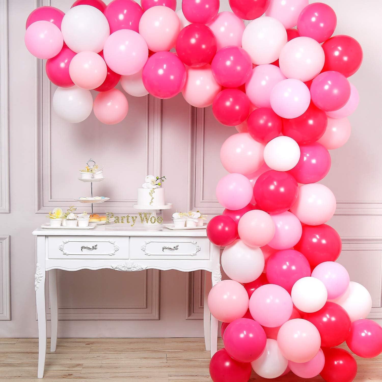 Amazon.com: PartyWoo Globos de color rosa, 100 unidades de ...
