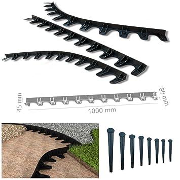 Rasenkante Pflasterkante Rasenbord Baumring 1 m incl. 10 Nägel PP45 ...