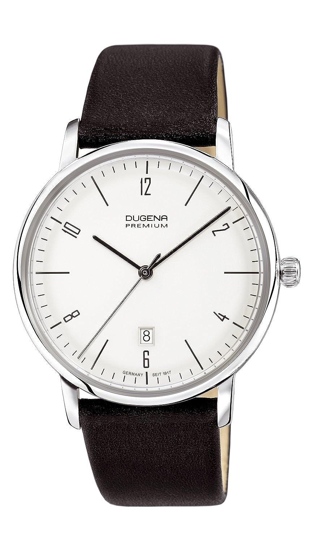 Dugena Herren-Armbanduhr Dessau - Modern Classic Analog Quarz Leder 7000238