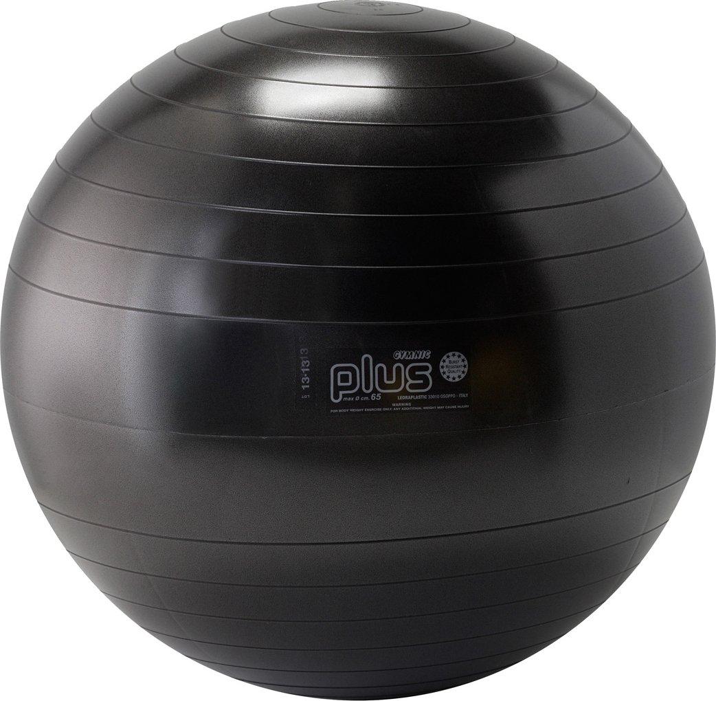 Gymnic Plus Burst-Resistant Exercise Ball, Black (65 cm)